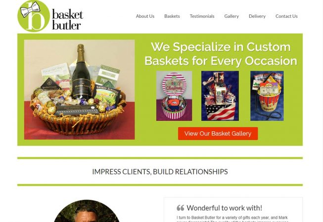 Basket Butler - updated WordPress template, improved mobile layout.