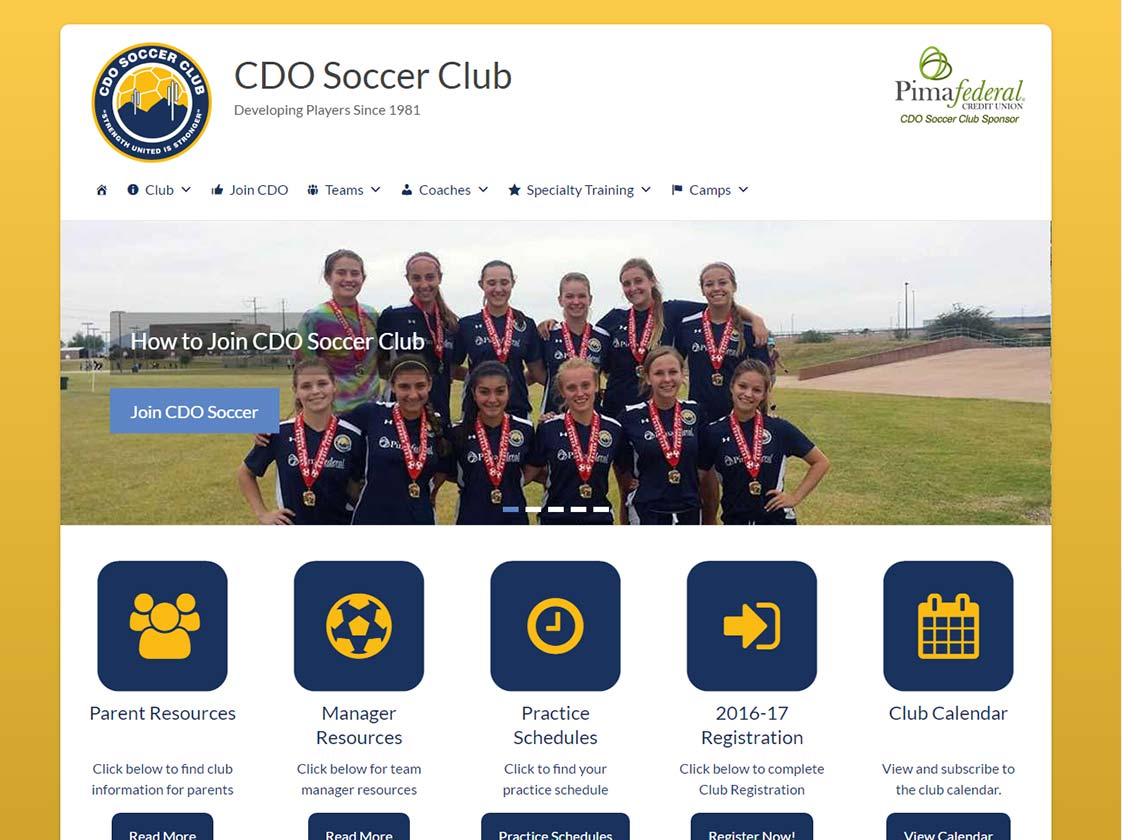 Cdo Soccer Club Moondog Web Hosting Design